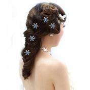 Webcajk Bridal Wedding Prom Crystal snowflake Hair Coils Swirls Spirals Twists Pins Pack of 20