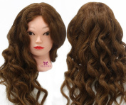 Neverland 100% Real Human Hair 70cm Hairdressing Hair Cutting Student Practise Training Head With Clamp Dark Brown