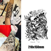 Body Art Temporary Removable Tattoo Stickers Death LC2833 Sticker Tattoo - FashionLife
