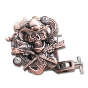 YUDO Empaistic Pro Skull Tattoo Machine Gun 10-wrap Coils for Liner / Shader WQ1035