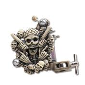 YUDO Empaistic Pro Skull Tattoo Machine Gun 10-wrap Coils for Liner / Shader WQ1039