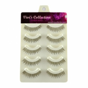 Vivi's Collection 5 Pairs V106 Natural Eyelashes Black False Eye Lashes