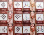 Banithani 12 Pcs Full Packets Bindis Indian Designer Temporary Tattoos Stickers