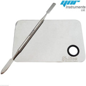 YNR 1 Set(2pcs) Fashion Stainless Steel Cosmetic Makeup Palette Spatula Tool