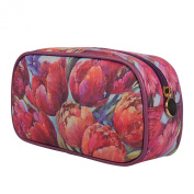 TaylorHe Nel Whatmore Collection Make-up Bag Cosmetic Case Pencil Case Printed PVC zipped top Joyful Blossom Large