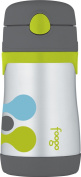 THERMOS FOOGO Vacuum Insulated Stainless Steel 300ml Straw Bottle, Tripoli Pattern
