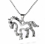 Silver Galloping Horse Necklace My Little Pony Charm Pendant Birthday Jewellery Gift for Girls Teen Girls