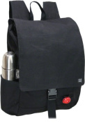 Banjo Brothers Canvas Commuter Backpack Black With phone Holster 05009