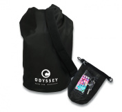 Black Waterproof Dry Bag (10L) by Odyssey, with Shoulder Strap. Smart Phone Dry Bag, Marine Grade Thermo Welded PVC Tarpaulin, Waterproof Guaranteed,