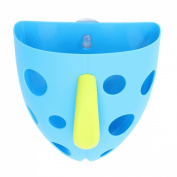 KINGSO Toddler Baby Kid Bath Toy Tidy Organiser Scoop Tub Toys Storage Bin Sucker Box Blue