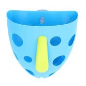 KINGSO Toddler Baby Kid Bath Toy Tidy Organiser Scoop Tub Toys Storage Bin Sucker Box Blue