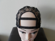 Combs attached Large Size Wide Gap Middle U Part Wig Making Cap. 8.9cm X 8.9cm . Ideal for adding closure. With Adjustable Sturdy Straps and combs