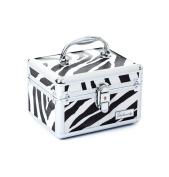 Urbanity Zebra Aluminium Vanity Case / Jewellery Box
