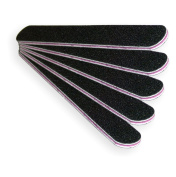 NAILFUN 5 Black/Pink Nail Files - Grit 80/80
