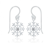 Tuscany Silver Snowflake withWhite Cubic Zirconia Drop Earring