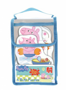 Jumbo Games Peppa Pig 4-in-1 Shaped Foam Bath Time Jigsaw Puzzles