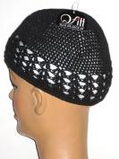 QFitt Black Kufi Cap