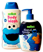 Sesame Street Cookie Monster Body Wash (12 FL.OZ. / 355 ml) PLUS Hand Soap