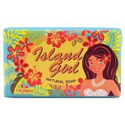 Island Girl - Natural Bar Soap, Tropical Aqua, 210ml