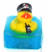 Kid's Bath Time Favourites Policeman Duck, The Salt Baron Ocean Scent Soap