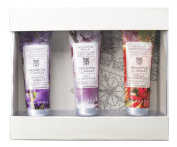 Upper Canada Soap Brompton and Langley 3-Piece Hand Cream Set, Lavender/Almond/Honeysuckle