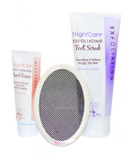 Nightcare Hand Cream, Foot Scrub with Exfiliating Microscreen. Gift Set.