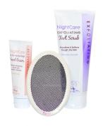 Nightcare Hand Cream, Foot Scrub with Exfiliating Microscreen. Gift Set.