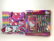 Hello Kitty Lip Balm Kit with Hair Clips Tote Bag Case Keychain Notepad Bundle of 6
