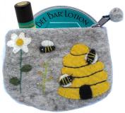 Honey House Naturals Boiled Wool Zipper Gift Set, Meadow