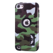 Urberry Ipod Touch 5 Case, [Camouflage Image Series] Case for Ipod Touch 5, 3-layer Cover with a Free Stylus