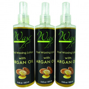 Wax Necessities Post Waxing Argan Oil Lotion 8.45 oz / 250 ml Pack of 3