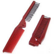 Fenheus Girls Ladies Mens Fine Travel Folding Pocket Salon Hair Brush Comb Red Portable by Fenhe CO.,LTD