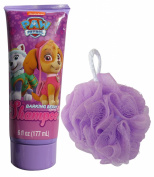 Paw Patrol Girl's Skye & Everest Barking Berry Shampoo and Bath Pouffe