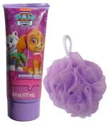 Paw Patrol Girl's Skye & Everest Barking Berry Shampoo and Bath Pouffe