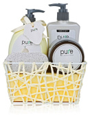 Luxury Bath & Body Gift Basket! Ultimate Pampering Spa Set, Natural Melon