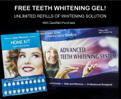 Advanced Teeth Whitening Kit with Unlimited Free Refills - Best Teeth Whitening at Home. RISK FREE