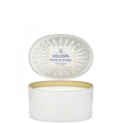 Voluspa Branche Vermeil 2 Wick Candle In Decor Oval Tin 380ml