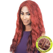 BeShe J-Curve Deep Part Braid Top Wavy Lace Front Wig - LLDP-423 (60cm )