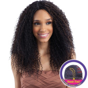 """FreeTress Equal Lace Deep Invisible """"L"""" Part Lace Front Wig - STRAW CURL BRAIDS"""