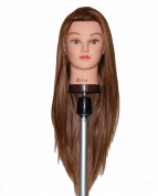 70cm - 70cm Cosmetology Mannequin Manikin Training Head with Synthentic Fibre - Rita