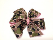 Girls Pink Black Brown Green Tan Camouflage Hair Bow Teen Hair Accessory Camo Barrette
