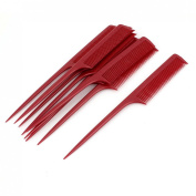 Plastic Hair Styling Toothed Pointed Rat Tail Comb Hairdresser 10pcs