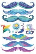 StacheTATS The Calypso Glitter Temporary Moustache Tattoo