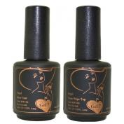 Gel Nail Polish, Gel 7 Soak Off Gel Top / Base Coat LED UV Manicure Polish