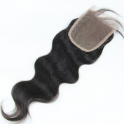 Fabwigs Lace Closure-7A Grade Body Wave Brazilian Virgin Human Hair Natural Colour-3.5x 4 Light Brown French Lace Free Part