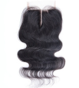 Fabwigs Lace Closure-7A Grade Body Wave Brazilian Virgin Human Hair Natural Colour-3.5x 4 Light Brown French Lace Middle Part