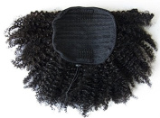 Ms Fenda Hair Raw Remy Virgin Peruvian Human Hair Natural Colour Afro Kinky Curly Hair Piece Clip-in Top Closure Ponytail