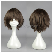 COSPLAZA Cosplay Wig Seraph of the End Yoichi Saotome Brown Short Heat Resistant Party Hair