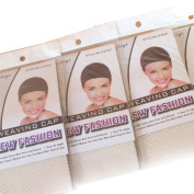 Wig Mall 5PCS/LOT Hair Nets Stretchy Fishnet 1 End Open Nylon 1PCS/Pack Beige