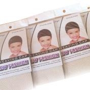 Wig Mall 5PCS/LOT Hair Nets Stretchy Fishnet 1 End Open Nylon 1PCS/Pack Beige